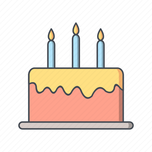 birthday, cake, celebration icon