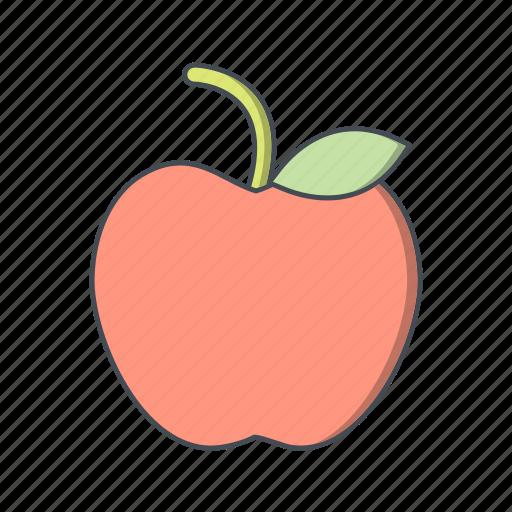 apple, fruit, healthy icon
