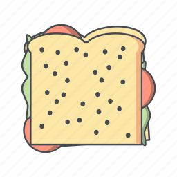 bread, fast food, sandwich icon