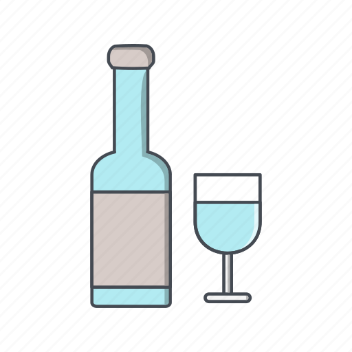 beer, champagne, wine icon