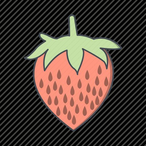 fruit, strawberries, strawberry icon