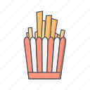 chips, fastfood, fingerchips, frenchfries icon