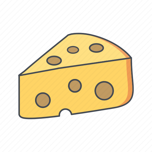 butter, cheese, dairy icon