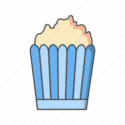 pop corn, popcorn, snack icon