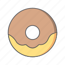 donut, doughnut, snack, sweet icon