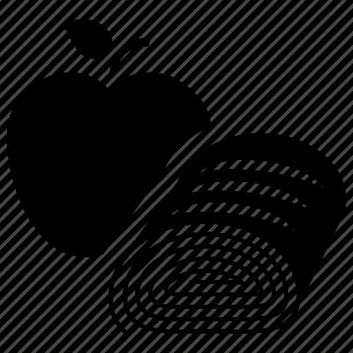 apple, dish, food, german, strudel icon