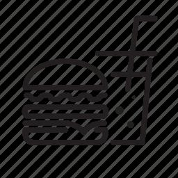 cola, fastfood, food, hamburger icon