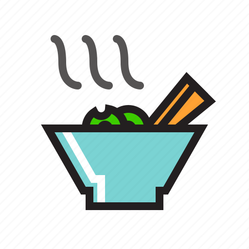 Bowl, chopsticks, food, noodle, noodles, spaghetti, vermicelli icon - Download on Iconfinder