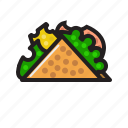 food, sandwich, taco, wrap icon icon