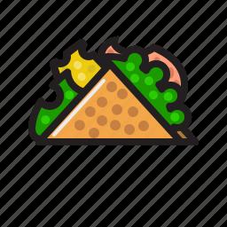 food, sandwich, taco, wrap icon icon