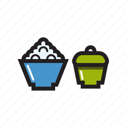 asian, bowl, food, restaurant, rice, rice icon icon