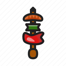barbecue, bbq, brochette, food, skewer icon icon