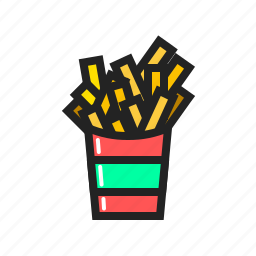 fast, food, french, fries, meal icon icon