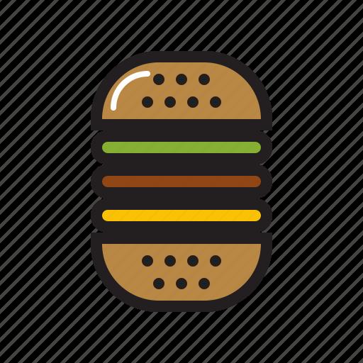 burger, fast, fast food, food, hamburger, hotdog burger icon