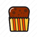 birthday, cup, cup cake, food, food icon
