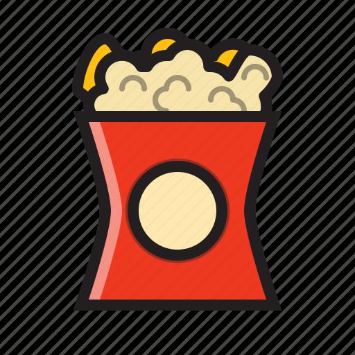 cinema, film, food, movie, popcorn, popcorn icon, snack icon