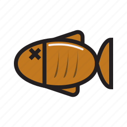eat, eating, fish, food, grill icon