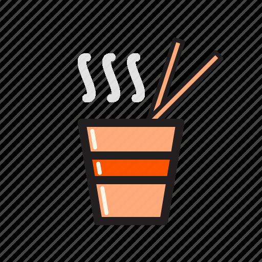 bowl, chopsticks, noodle, ramen icon icon