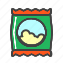 eat, eating, food, popcorn, snack icon
