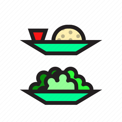 food, meal, rice, salad icon