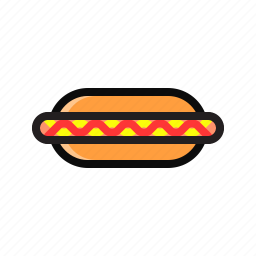 bread, food, hotdog, hotdog burger, sandwich icon