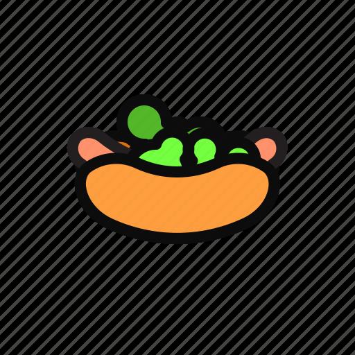 bread, food, hotdog, hotdog burger, sandwich icon