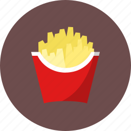 breakfast, chips, fast food, food, french fries, fried potato, junk food, kfc, macdonald, potato, potato chips, snack icon