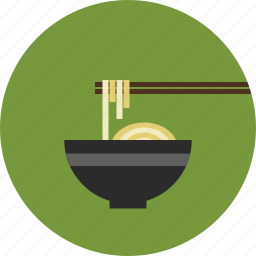 asian noodle, bowl, chinese noodle, chopsticks, cooking, food, japan noodle, noodle icon