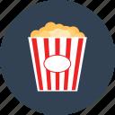 movie, junk food, snack, cinema, entertainment, food, popcorn icon