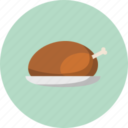 food, roast turkey, thanksgiving, turkey icon