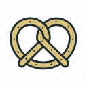 bagel, breakfast, food, pretzels icon