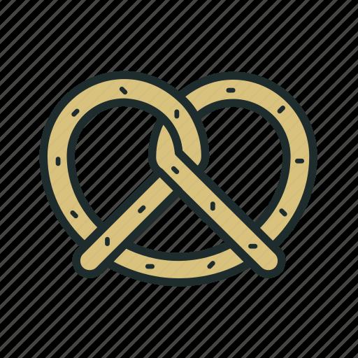bagel, breakfast, food, pretzels icon