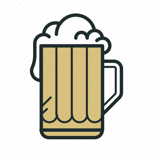 alcohol, beer, cup, drink, foam, glass icon