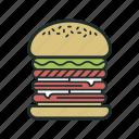 burger, fast food, hamburger