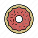 cook, donut, fast food, sweet icon