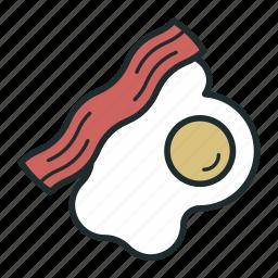 bacon, breakfast, egg, food icon