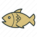 fish, food, kitchen, seefood icon