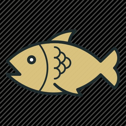 fish, food, kitchen, seefood icon