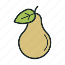 food, fresh, pear, sweet icon