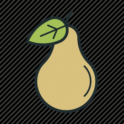 food, fresh, pear, sweet icon