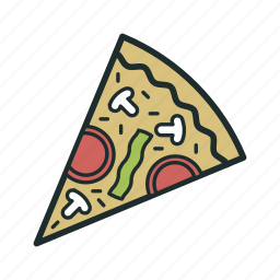 fast food, italian, pizza, restaurant, slice icon