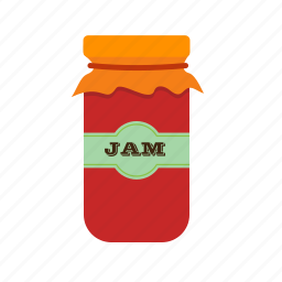 food, fruit, glass, healthy, jam, jar, sweet icon