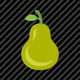 food, fruit, green, leaf, organic, pear, pears icon