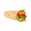 chicken, food, healthy, salad, sandwich, wrap, wraps icon