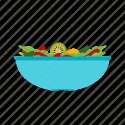 bowl, food, fresh, green, healthy, salad, vegetable icon