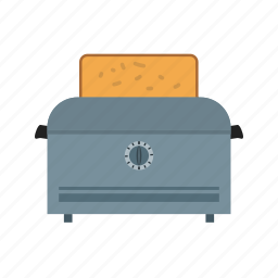 bread, breakfast, food, kitchen, sandwich, toast, toaster icon