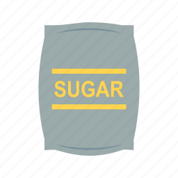 bag, bags, food, package, sugar, sweet, white icon