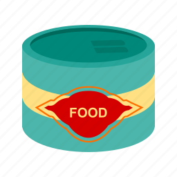 can, canned, cans, food, metal, packaging, tin icon