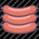 food, frankfurter, sausage icon