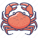 crab, sea, seafood icon